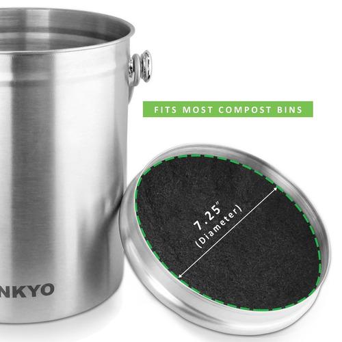 linkyo compost bin filtros de repuesto set - juego de repues