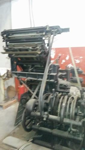 linotipo con 2 magacines de 1904,funcionando