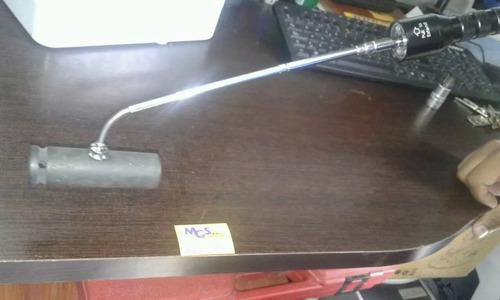 linterna 6 led extendible con punta imantada marca maxcraft.