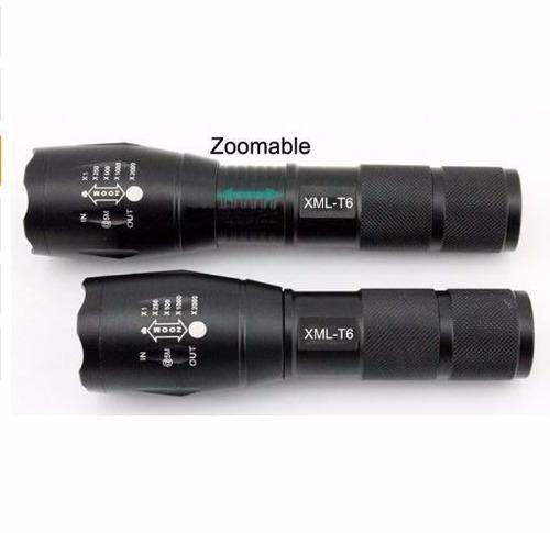 linterna alta potencia+cargador doble+2 pilas