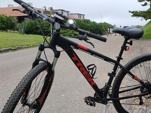 linterna bicicleta 250 lm luz recargable con soporte nisuta