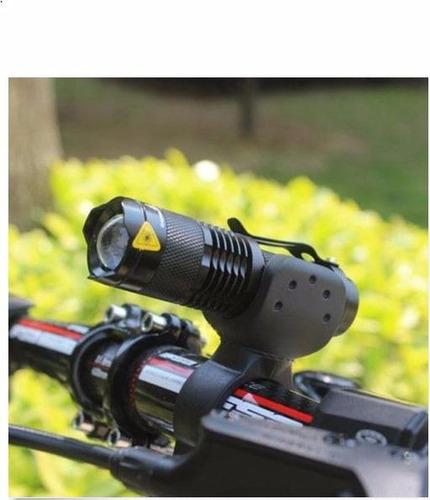 linterna bicicleta alta potencia+cargador+pila+soporte