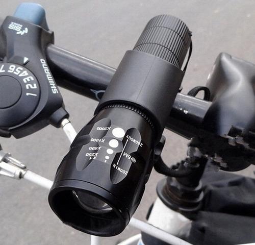 linterna bicicleta frontal 2000 lumen + soporte manubrio