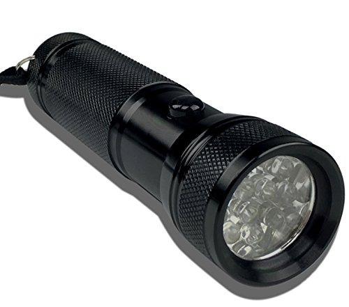 linterna compacta y brillante led con luz negra uv  kit de d