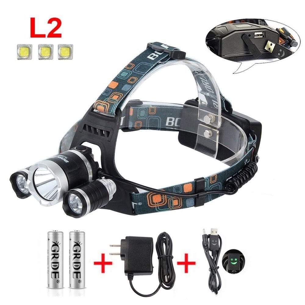 Linterna de cabeza ideal caza pesca aire libre u s - Linternas de cabeza ...