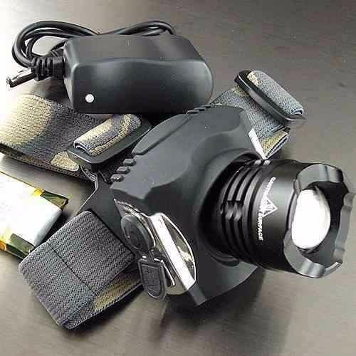 linterna de cabeza minera con zoom recargable profesional