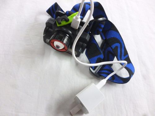 linterna de cabeza recargable ewtto alta potencia zoom new