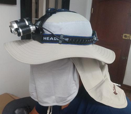 linterna de cabeza recargable y 3 led potentes antiexplosiva
