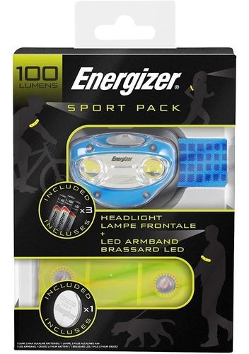 linterna energizer sport pack manos libres 2 leds brazalete