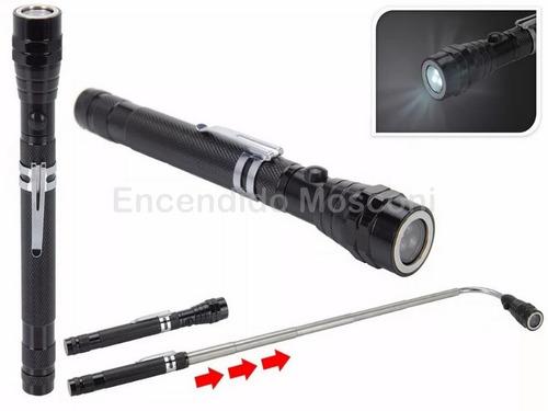 linterna extensible flexible con iman 3 leds 55 cms