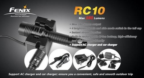 linterna fenix rc10 potencia de 5 a 380 lumenes 4 niveles