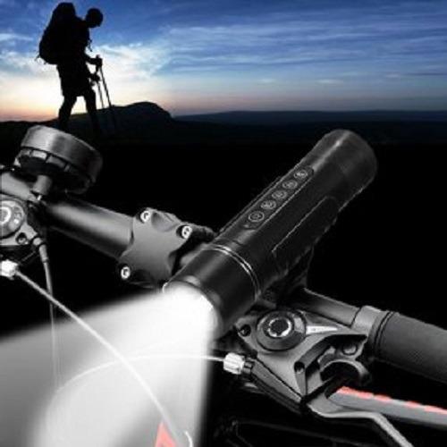 linterna flashlight  10000 lumen  para bicicleta con soporte