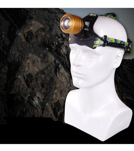 linterna frontal para cabeza dual light source