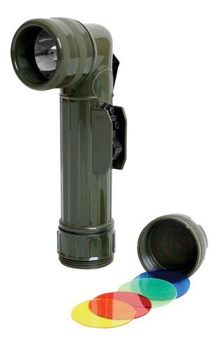 linterna l militar reglamentaria importada con filtros