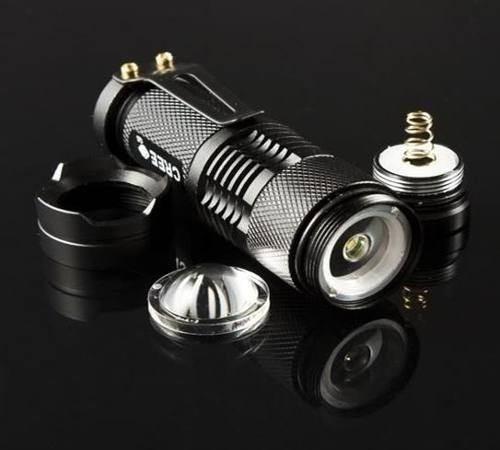 linterna led cree mini 300 lumen + pila + cargador vv4