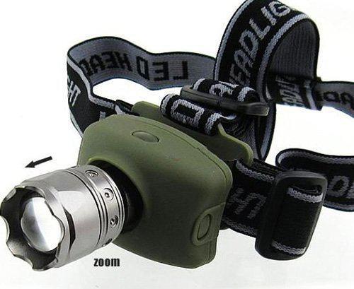linterna led de alto rendimiento con zoom telescópico