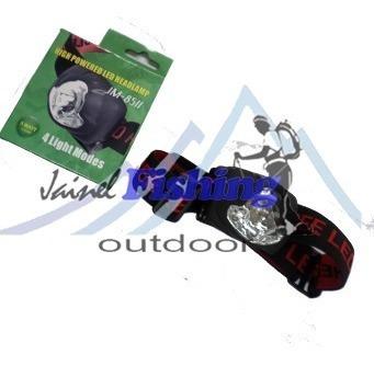 linterna led de cabeza (luz led y roja) pilas outdoor