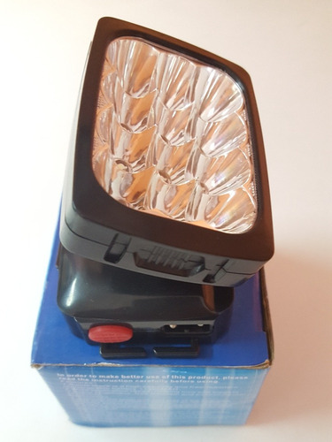 linterna led de frente recargable 12led