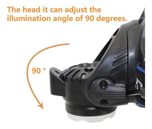 linterna led minero 1x t6 cree 10 watts vincha cabeza recarg