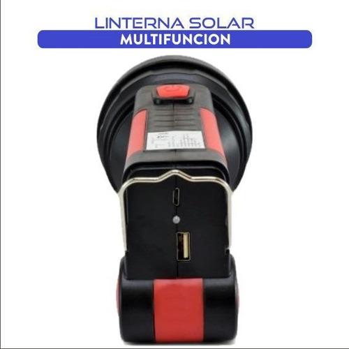linterna led multifunción con baliza de emergencia