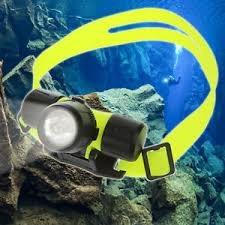 linterna led para cabeza de buceo sumergible led pesca