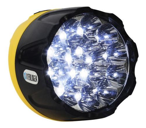 linterna led recargable 15 leds autonomia 12hs mano 90w 220v