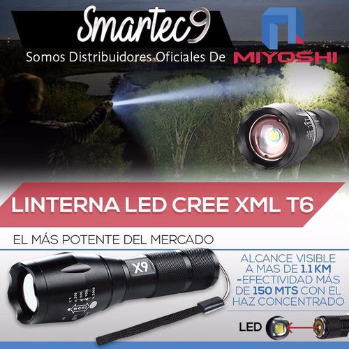 linterna led tactica lumify x9 recargable zoom + kit tactico