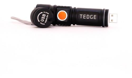 linterna led táctica recargable usb - tedge