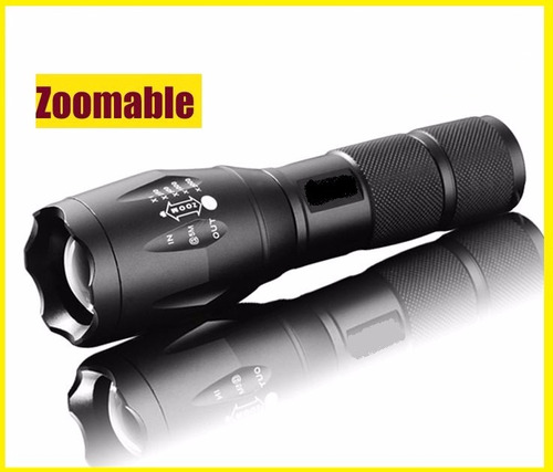 linterna led tactica t6 2000 l+  zoom aluminio impermeable