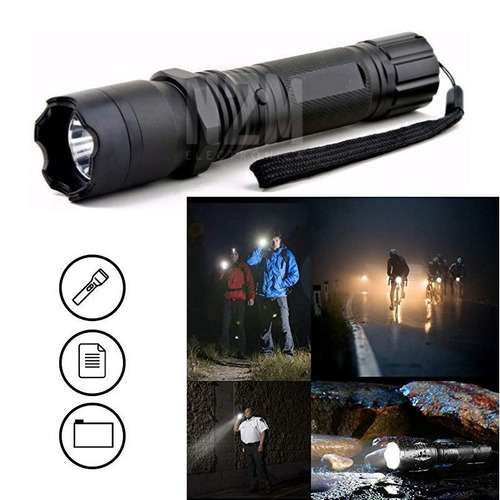 linterna led taser 180 lm picana recargable defensa personal pack 2