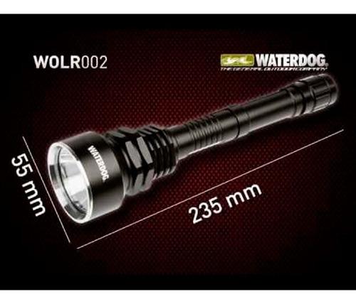 linterna mano waterdog led cree resistente agua recargable