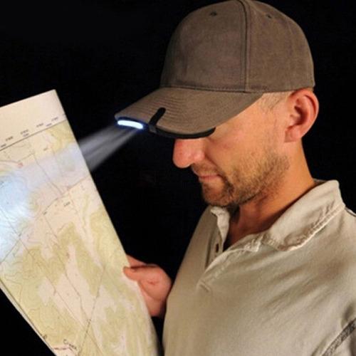 linterna manos libres led gorra 200 lumens luz camping sende