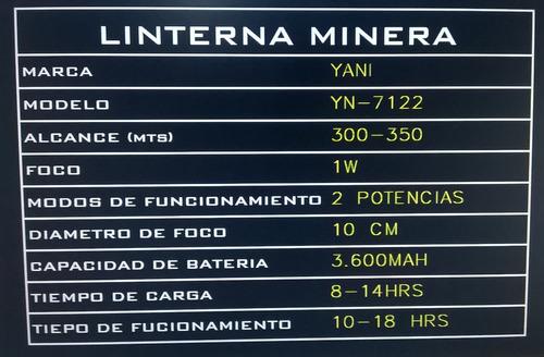 linterna minera yani 7122 yn-7122 recargable
