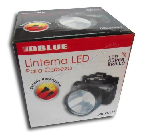 linterna minero 1 led 2 nivel luz lampara cabeza recargable