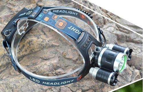 linterna minero cabeza vincha led recargable pesca 8000 caza