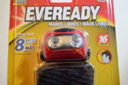 linterna minero vincha eveready 2 led 16 lumens alto brillo