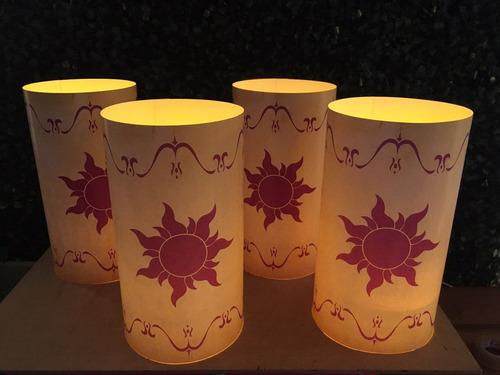linterna rapunzel centro de mesa farolito