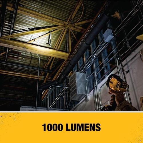 linterna recargable 20v 1000 lmenes (sin bateria) dcl043 dewalt