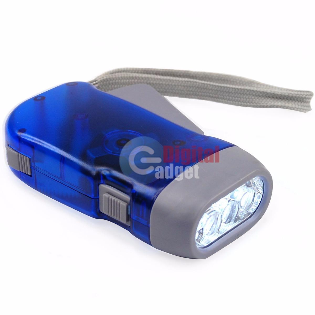 Lampara linterna led recargable portatil mano xenon dinamo - Linterna recargable led ...