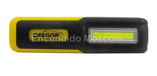 linterna recargable usb led cob emergencia trabajo oregon
