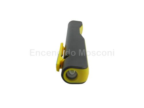 linterna recargable usb led cob trabajo emergencia oregon