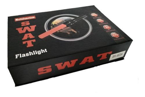 linterna swat led recargable tactica zoom luz de emergencia