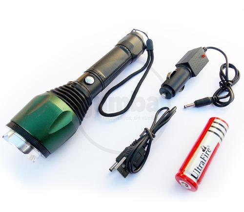 linterna táctica 1800 lum 1500w recargable zoom usb coche