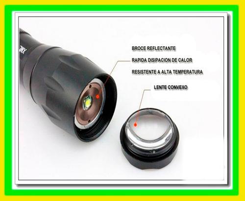 linterna tactica  de 2000 lumens 7 modos iluminacion