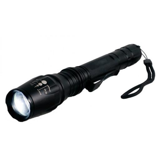 linterna táctica highlight torch recargable con 2 baterias