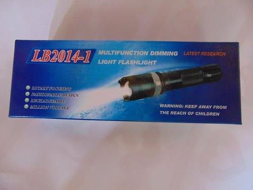 linterna tactica led con descarga o choque electrico