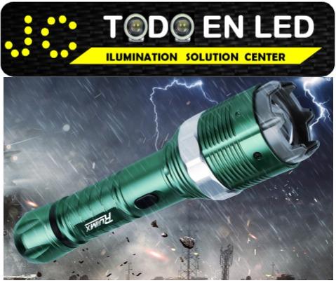 linterna tactica led hy-8810 con descarga o choque electrico