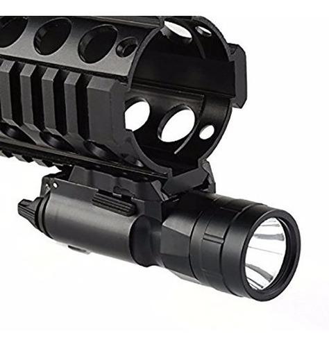 linterna táctica militar led 1200 lumen riel arma recargable