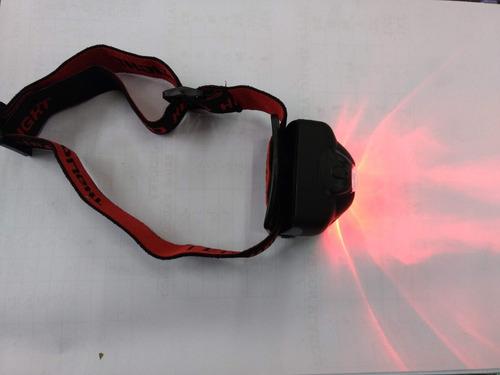linterna táctica minero cabeza vincha militar c/ led rojo 3w