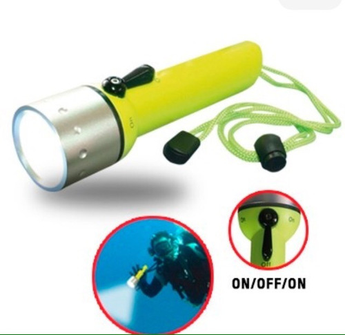 linterna tactica para buceo sumergible led pesca submarina